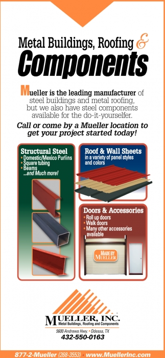 Metal Buildings, Roofing And Components