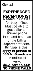 Experienced Receptionist