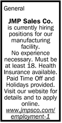 Is Currently Hiring Positions For Our Manufacturing Facility.