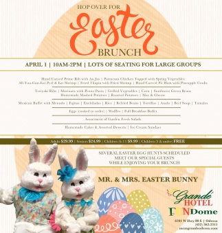 Hop Over For Easter Brunch
