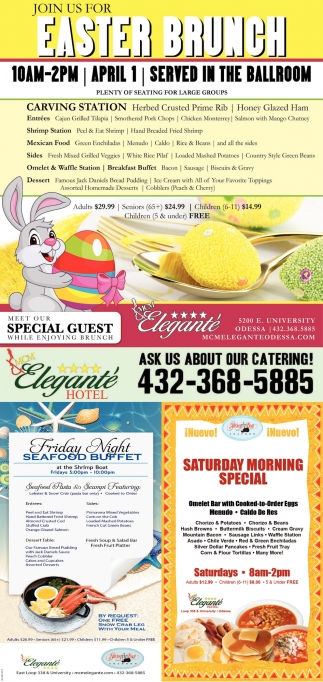 Join Us For Easter Brunch