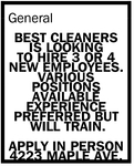 Is Looking To Hire 3 Or 4 New Employees.
