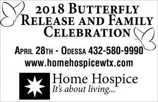 2018 Butterfly Relase And Family Celebration