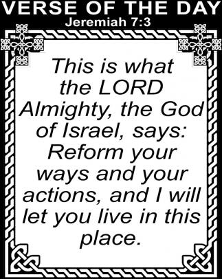 Jeremiah 7:3