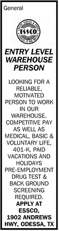 Entry Level Warehouse Person
