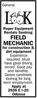 Field Mechanic