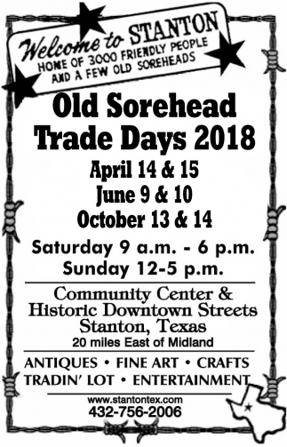 Old Sorehead Trade Days 2018