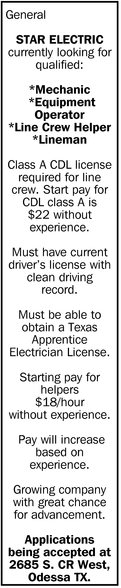 Currently Looking For Qualified Mechanic, Equipment Operator.