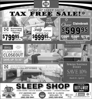 Tax Free Sale!
