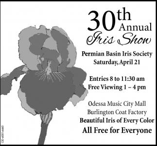 30th Annual Iris Show