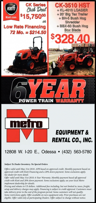 6 Year Power Train Warranty