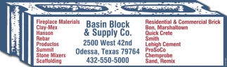 Basin Block And Supply