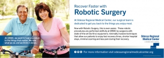 Recover Faster With Robotic Surgery