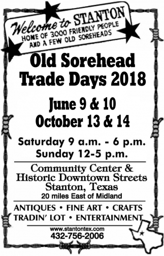 Old Sorehead Trade Days 2018