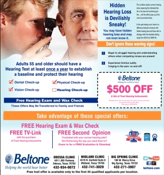 Free Hearing Exam And Wax Check