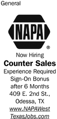 Now Hiring Counter Sales