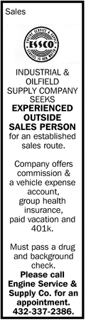 Industrial And Oilfield Supply Company Seeks