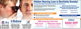 Hidden Hearing Loss Is Devilishly Sneaky!