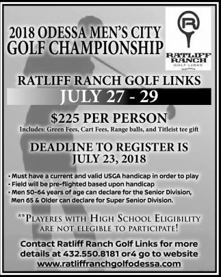 2018 Odessa Men's City Golf Championship