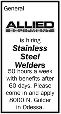 Is Hiring Stainless Steel Welders