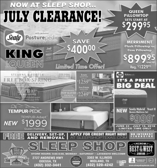 July Clearance!