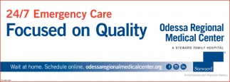 24/7 Emergency Care Focused On Quality