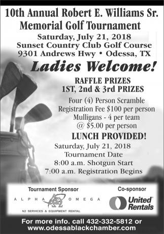10th Annual Robert E. Williams Sr. Memorial Golf Tournament