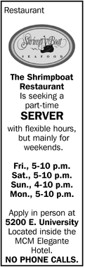I Seeking A Part-Time Server