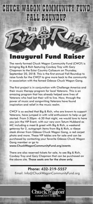 Inaugural Fund Raiser