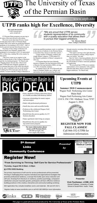 UTPB Raks High For Excellence, Diversity