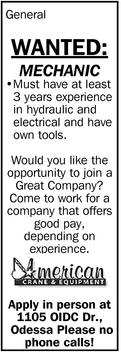 Wanted: Mechanic
