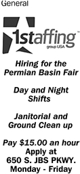 Hiring For The Permian Basin Fair