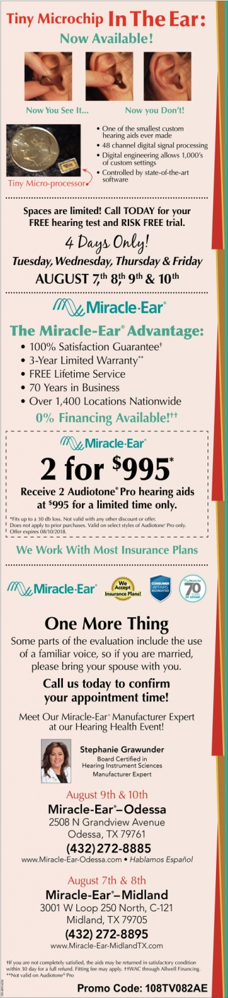 Tiny Microchip In The Ear: Now Available!