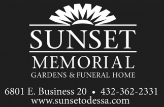 Sunset Memorial Gardens And Funeral Home Sunset Memorial Odessa Tx