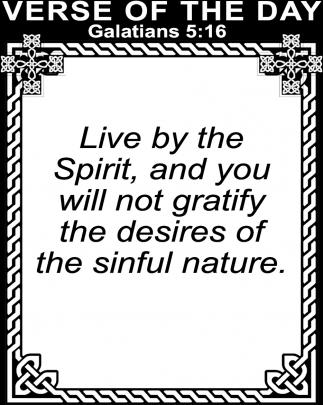 Galatians 5:16