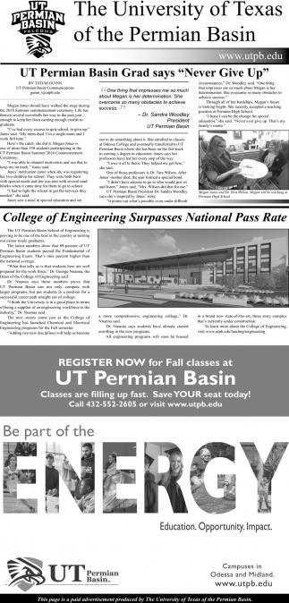 UT Permian Basin Grad Says