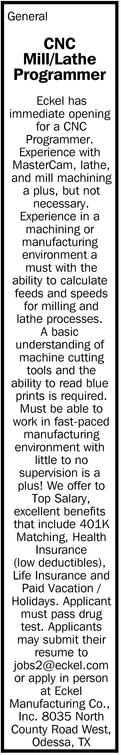 CNC Mill/Lathe Programmer