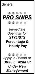 Immediate Openings For Stylists