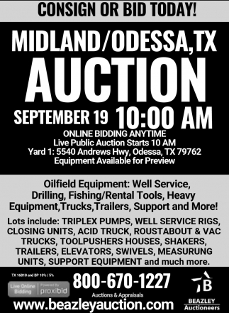Consign Or Bid Today!