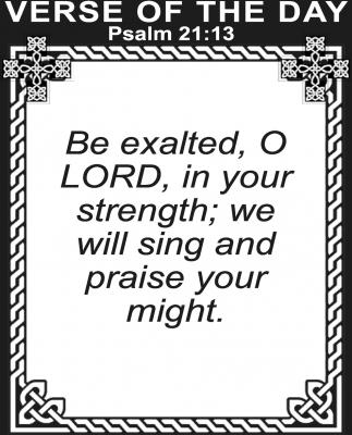 Psalm 21:13