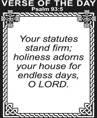 Psalm 93:5