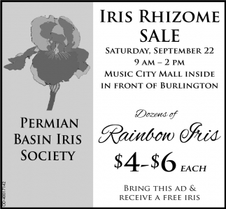 Iris Rhizome Sale