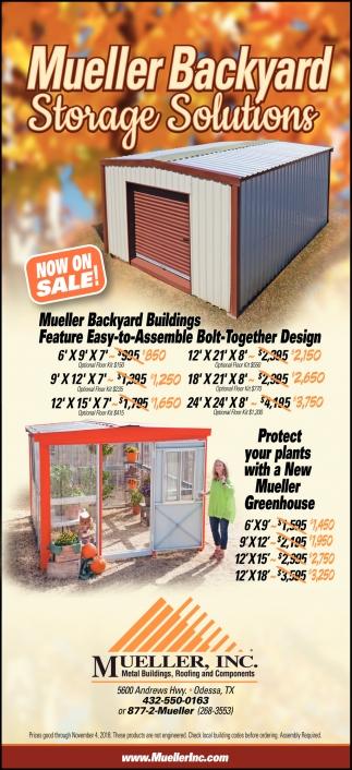 Mueller Backyard Storage Solutions