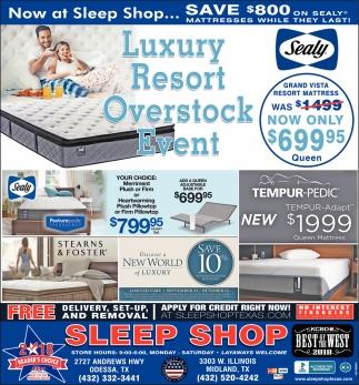 Luxury Resort Overstock Event