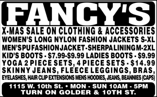 X-Mas Sale On Clothing And Accesories