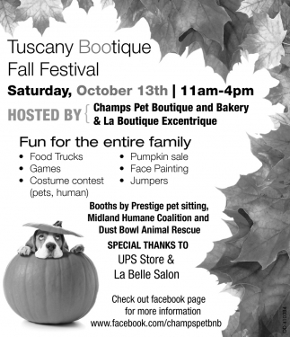 Tuscany Bootique Fall Festival