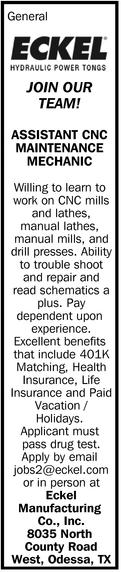 Assistant CNC Maintenance Mechanic