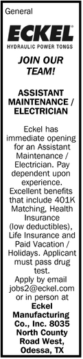 Assistant Maintenance/Electrician