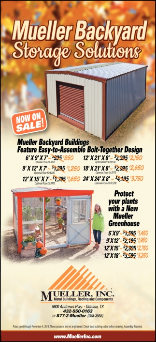 Mueller Backyard Storage Solutions