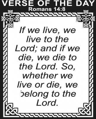 Romans 14:8